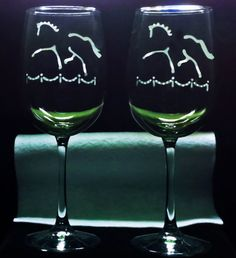 CLOSE OUT SALE  4 Dressage Horse & Arena Etched by HorseSportsArt, $28.00