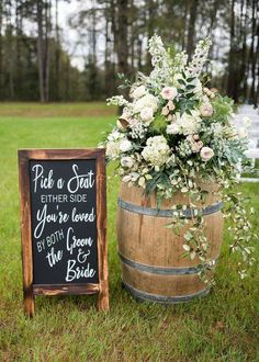 Pick a seat not a side chalkboard decal sign seating sign pick a seat sign wedding seating wedding signage wedding decor ceremony ideas backyard wedding seating layout chairs for chairs ideas layout seating wedding Wedding Signage, Wedding Reception Decorations, Wedding Table, Wedding Venues, Reception Seating, Outdoor Wedding Seating, Wedding Ceremony Signs, Outdoor Ceremony, Wedding Backyard