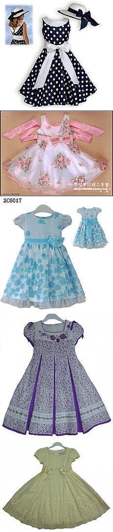 Модели летних платьев для девочек.