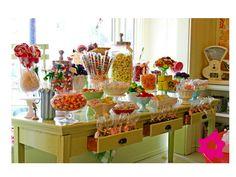 Barra de dulces para la boda