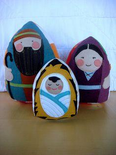 Plush Nativity set for little people Christmas Nativity Scene, Felt Christmas, All Things Christmas, Winter Christmas, Christmas Holidays, Christmas Crafts, Christmas Ornaments, Christmas Bells, Christmas Printables