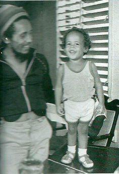 Bob Marley and Damian