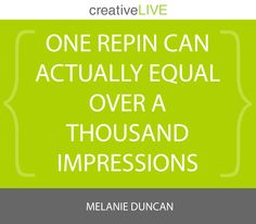 #Quote from marketing maven @Melanie Bauer Bauer Duncan  during Unlocking the Power of #Pinterest! #MelanieLIVE