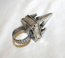 Russian Antique Judaica Sterling Silver Bridal Wedding Ring