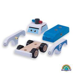 Build a police car - ¡Construye y Juega! Ensambla todas las piezas y crea un precioso vehículo. Desarrolla la coordinación ojo-mano y la capacidad para resolver problemas.