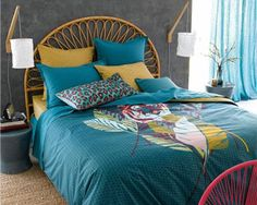 Chambre néo-exotique avec la tête de lit rotin TIO - La Redoute Intérieurs