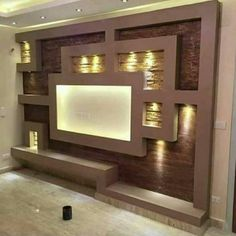 18 best tv wall units with led lighting that you must see - home interior designs Deco Tv, Modern Tv Wall Units, Wall Units For Tv, Living Room Tv Unit Designs, Plafond Design, Tv Wall Decor, Tv Wall Design, False Ceiling Design, Wall Mounted Tv
