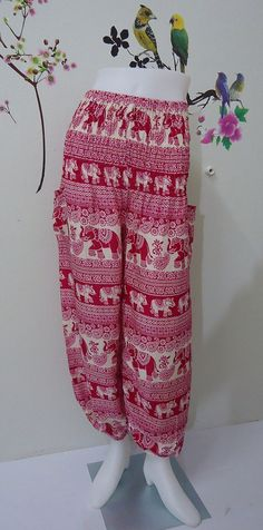 Hey, I found this really awesome Etsy listing at https://www.etsy.com/listing/192090505/pink-elephants-ladiess-trouser-harem-ali