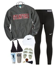 """""""Untitled #40"""" by ainlsley ❤ liked on Polyvore featuring NIKE, Birkenstock and Clinique"""