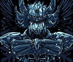 Imagem da ilustração por Rodrigo Gafa - Cisne Negro (Saint Seiya)