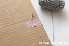 """DIY Cómo fabricar un """"telar"""" con cartón reciclado y nociones básicas para usarlo Washi, Lana, Outdoor Blanket, Diy, Virginia, Blog, Tapestry Weaving, Step By Step Instructions, How To Knit"""