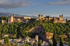 size: Photographic Print: Made in Spain Collection - The Beautiful Alhambra at Sunset by Philippe Hugonnard : Thing 1, Cool Countries, Sierra Nevada, City Break, Moorish, Travel Images, World Heritage Sites, Travel Destinations, Andalusia Spain