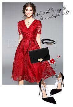 """Dress"" by masayuki4499 ❤ liked on Polyvore featuring MICHAEL Michael Kors, Steve Madden and David Yurman"