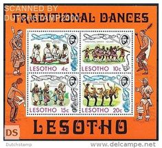 Michel Block 2 MNH / Neuf / Postfrisch Lesotho - Dance - Folklore / traditions - Delcampe.net