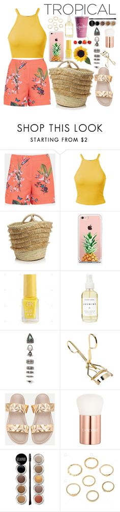 """""""Tropical"""" by narminabasoffa ❤ liked on Polyvore featuring Ted Baker, Caterina Bertini, The Casery, A Weathered Penny, Nasty Gal, Lancôme and Giorgio Armani"""