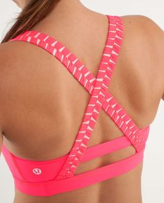 Coral Lululemon sports bra. Cute!