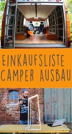 The ultimate shopping list for camper expansion-Die ultimative Einkaufsliste für den Camper Ausbau What do you need for your motorhome expansion? Here you will find an extensive list of all the products that I have used. Auto Camping, Trailers Camping, Motorcycle Camping, Camping List, Van Camping, Camper Trailers, Camping Gear, Camping Hacks, Outdoor Camping