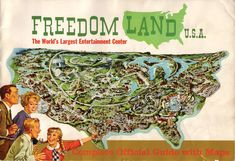 Freedomland Amusement Park..A great park that opened in the Bronx in 1960...I went many times & they even had concerts there (Marvin Gaye, Bibby Rydell, Gene Pitney to name a few!)  Freedomland opened with seven different themed areas (later expanded to eight), each representing a location and era of U.S. History.