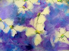 How to Paint Flowers Soft Pastels With Alcohol Underpainting
