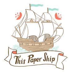 Love this logo for This Paper Ship #ship #logo #design #illustration