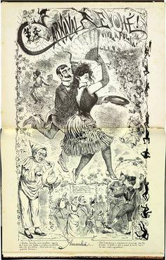 Carnaval Evohé!Viva a folia!   Caricatura de Angelo Agostini referente ao carnaval de 1889.