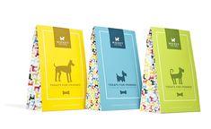 Wicket the Dog treats packaging by Shannon Hartmark via Behance