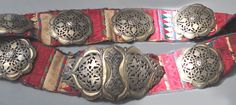 Uzbekistan belt with punched work on embroidery belt inventory for sale… Fashion Belts, Central Asia, Tribal Jewelry, Dance Costumes, Belt Buckles, Antique Jewelry, Eleanor Calder, Amulets, Jewels