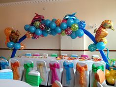 Under the sea balloon arch. Party provided by The Party Belles. www.thepartybelles.co.uk