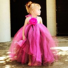 Hot Pinks & Chocolate Princess Tutu Halter Dress Gown