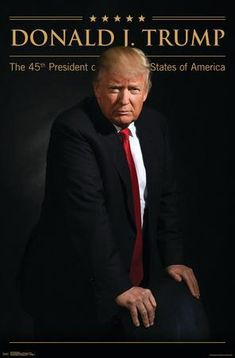 Trends International Donald Trump Wall Poster inch x 34 inch, Beige All Presidents, Greatest Presidents, I Love Donald Trump, Trump Wall, Our President, Beautiful Family, Poster Wall, United States, Portrait