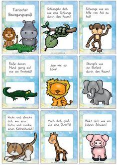 Animal movement fun - Magic Shop Source by Yoga For Kids, 4 Kids, Diy For Kids, Montessori Materials, Montessori Activities, School Sports, Kids Sports, Hanging Mugs, Animal Movement