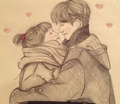 aahhhh so cute! Weightlifting Fairy Kim Bok Joo Fanart, Weightlifting Fairy Kim Bok Joo Wallpapers, Weightlifting Kim Bok Joo, Couple Drawings, Couple Sketch, Love Drawings, Drawing Sketches, Goblin, Weighlifting Fairy Kim Bok Joo
