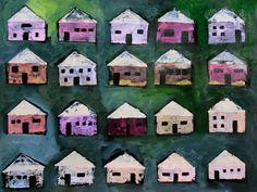"Saatchi Art Artist Elaine Kehew; Painting, ""Little Pink Houses"" #art"