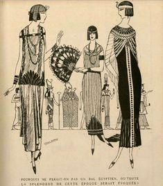 Egyptian Revival fashions. 'L'Art et la Mode', 1924.