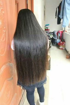 Grow long hair from hip length to calf length
