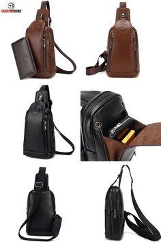 Genuine LeatheMen Brown Retro Cross Body Bags Mobile Phone Camera Mini Chest  Bags Single Travel Messenger Bags  919f07f9d62b3