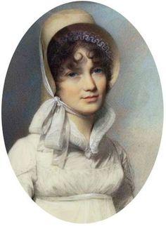 George Engleheart, Lady 1807 Regency Dress, Regency Era, Empire, Renaissance, Hat Hairstyles, Photography Women, Portraits, Victorian Era, Hats For Women