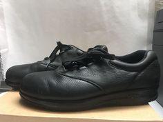 775ba4792046a SAS Tripad Comfort Slip Resistant Women s Black Leather Oxford Shoes Sz 7  1 2 W