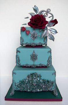 Bas relief wedding cake. by lumipo - http://cakesdecor.com/cakes/248807-bas-relief-wedding-cake