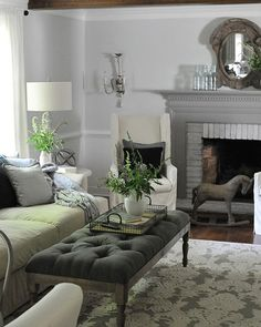 Gray never looked so good. This cozy yet elegant house has us taking notes.