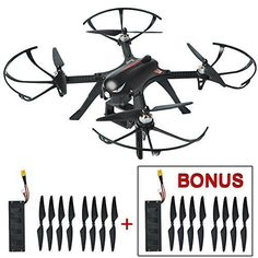 Best Mysterystone Bugs 3 RC Quadcopter Drone with 2 Batteries, 2 Extra Sets of Blades, Brushless Drone with GoPro Camera Mount Flight Time Long Range Remote Control Wind Resistance Drones Black Deals Drones, Gopro Drone, Drone Quadcopter, Phantom Drone, App Control, Call Backs, Camera Gear, Bugs, Remote