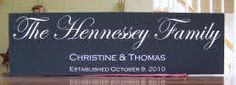 Our Family Name Wooden Signs are made on order and are handmade.