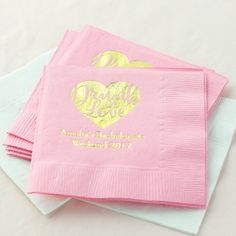 Personalized Drunk in love Bridal Shower Napkins