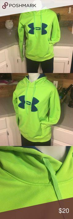 Under Armour Hoodie Neon green and blue hoodie Under Armour Tops Sweatshirts & Hoodies