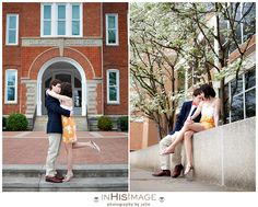 Clemson University Engagement Session Trey and Hannah. shoulder, if possible :)