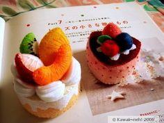 Kawaii~neh!: Fruit Cream & Berries Cassis Mini Felt Cakes