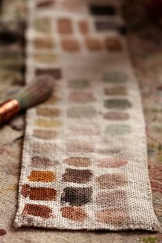 Paint Swatches Very rustic, very vintage art feeling, perfect warm colors for a fall day.