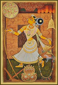 Kerala Mural Painting, Tanjore Painting, Silk Painting, Phad Painting, Indian Traditional Paintings, Amazing Paintings, Marble Art, Anime Sketch, Art Drawings Sketches