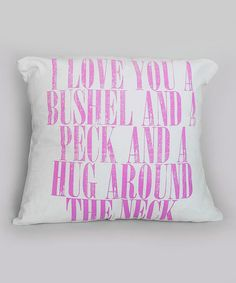 Take a look at this Pink 'Bushel & Peck' Pillow by IScreenYouScreen on #zulily today!