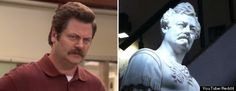 Marble Statue Looks Exactly Like Ron Swanson, But Was Carved In Mid-1800s